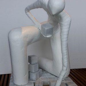 27 - SOUS LES PAVES - 50x40 cm - Plâtre